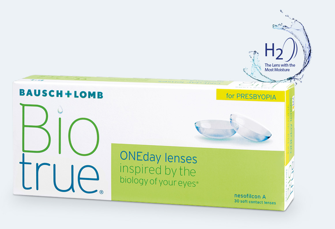 Image of biotrue one day presbyopia package box
